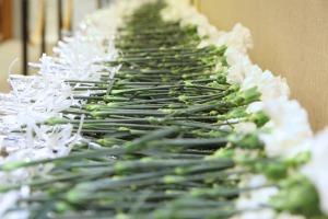 キリスト教葬儀の献花